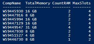 Инвентаризация RAM
